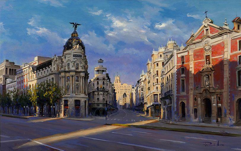 Ricardo-Sanz-Luz-de-manana-en-la-Gran-Via-61X89-cms