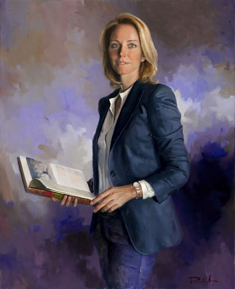 Portrait of Arantxa Quiroga. President of the Basque Parliament