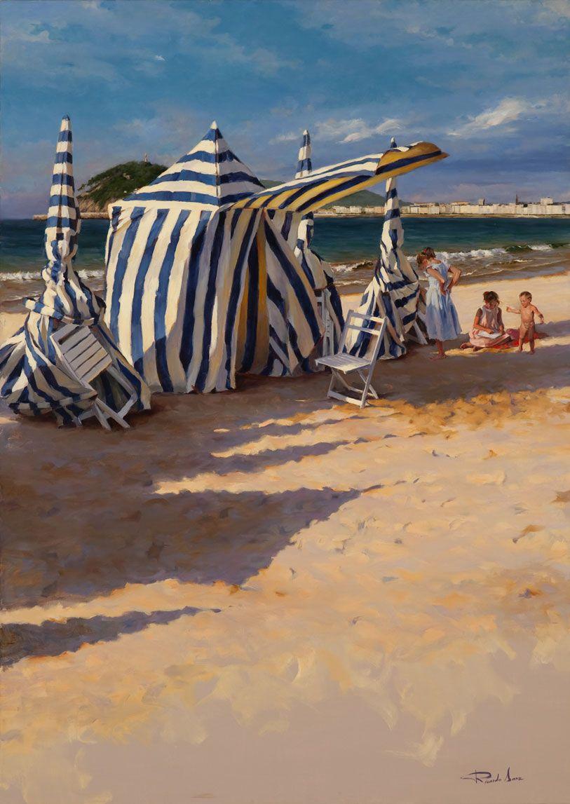 Ricardo-Sanz-Tarde-de-playa-162X114cms